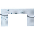 Triton Laundry Room Pegboard Strip Kit — White, Model# LBS30L-WHT The price is $149.99.