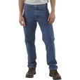 Carhartt Men's Traditional Fit Straight Leg Jean - Dark Stone, 38in. Waist x 34in. Inseam, Regular Style, Model# B18 The price is $29.99.