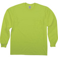 Gildan Men's Non-Rated High Visibility Long Sleeve Pocket T-Shirt — Lime, Large, Model# G2410 The price is $8.99.