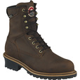 FREE SHIPPING — Irish Setter Mesabi Men's 8in. Waterproof Steel Toe EH Logger Boots - With 600g Primaloft Insulation - Brown, Size 11 Wide The price is $139.99.