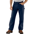 Carhartt Men's Loose Fit Canvas Carpenter Jean - Navy, 32in. Waist x 30in. Inseam, Regular Style, Model# B159 The price is $39.99.