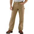 Carhartt Men's Loose Fit Canvas Carpenter Jean - Gold Khaki, 33in. Waist x 34in. Inseam, Regular Style, Model# B159 The price is $39.99.