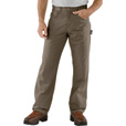 Carhartt Men's Loose Fit Canvas Carpenter Jean - Mushroom, 38in. Waist x 36in. Inseam, Regular Style, Model# B159 The price is $39.99.