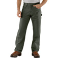 Carhartt Men's Loose Fit Canvas Carpenter Jean - Dark Moss, 40in. Waist x 34in. Inseam, Regular Style, Model# B159 The price is $39.99.
