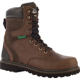FREE SHIPPING — Georgia Men's Brookville 8in. Waterproof Steel Toe Work Boots - Dark Brown, Size 9 1/2, Model# G9334 The price is $114.99.