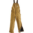 Carhartt Duck Arctic Quilt-Lined Bib Overall, Model# R03