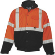 ML Kishigo Men's Class 3 Ripstop Bomber Jacket — Orange/Black, XL, Model# JS131-XL The price is $54.99.