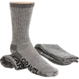 FREE SHIPPING - Gravel Gear Men's Merino Wool Blend Midweight Crew Socks - 2-Pair, 11in. Crew Length, Charcoal The price is $10.19.