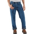 Carhartt Men's Relaxed Fit Flannel-Lined Jeans - 28in. Waist x 30in. Inseam, Dark Stone, Model# B172 The price is $39.99.