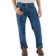 Carhartt Men's Relaxed Fit Flannel-Lined Jeans - 48in. Waist x 32in. Inseam, Dark Stone, Model# B172 The price is $39.99.