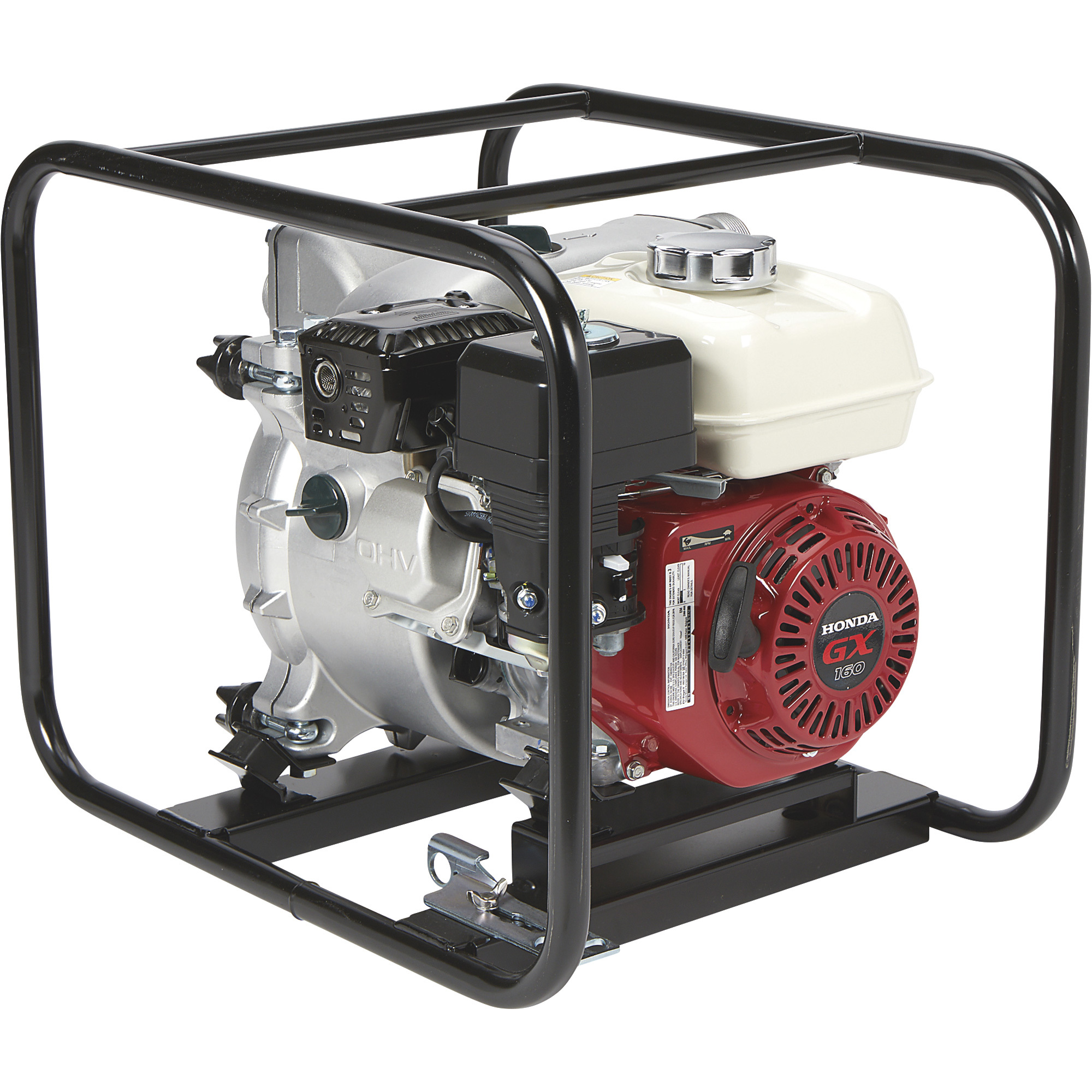 NorthStar Self-Priming Cast Iron Full Trash Water Pump — 2in  Ports, 11,100  GPH, 1in  Solids Capacity, 160cc Honda GX160 Engine