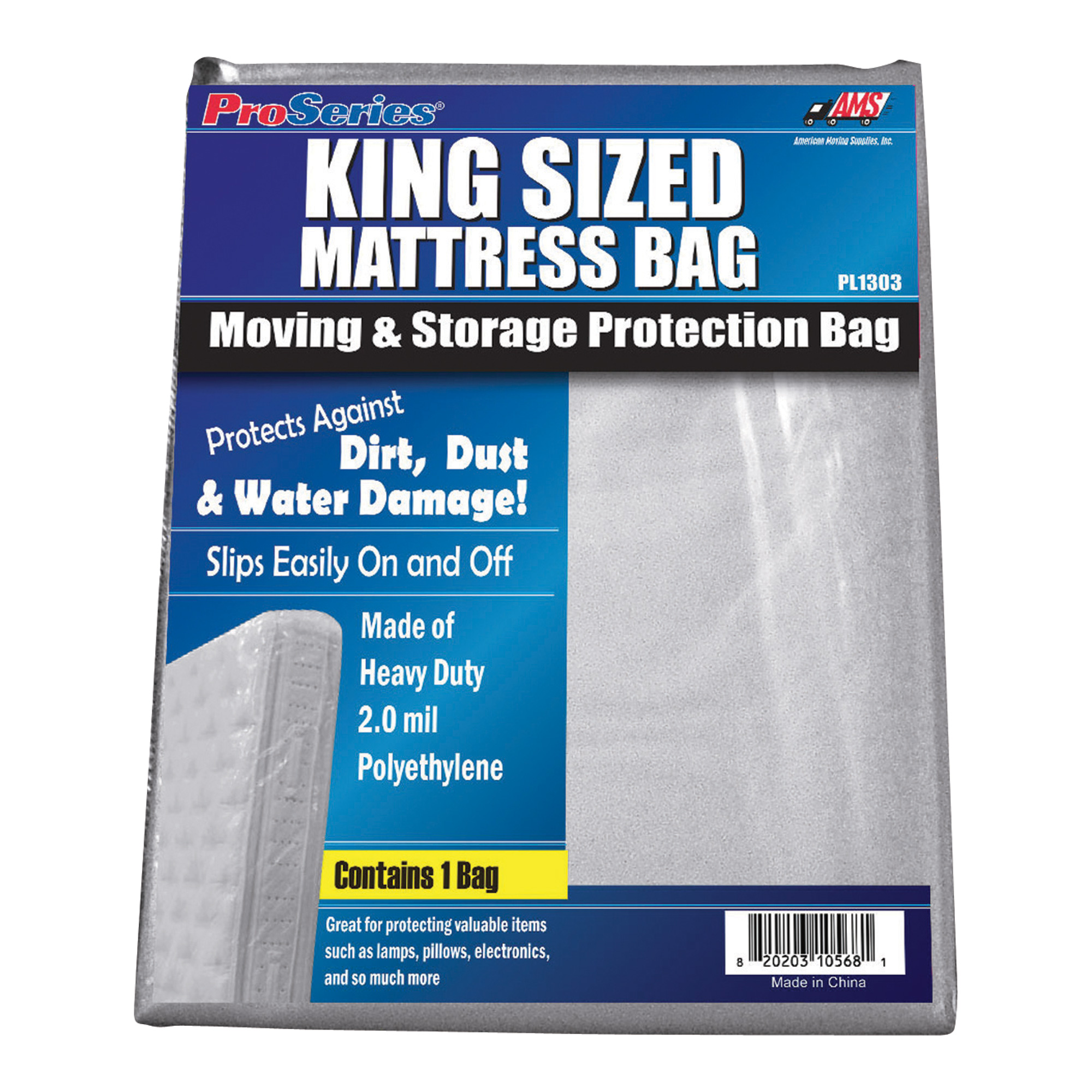 American Moving Supplies Proseries Mattress Bag King Size Bed Model Pi1303