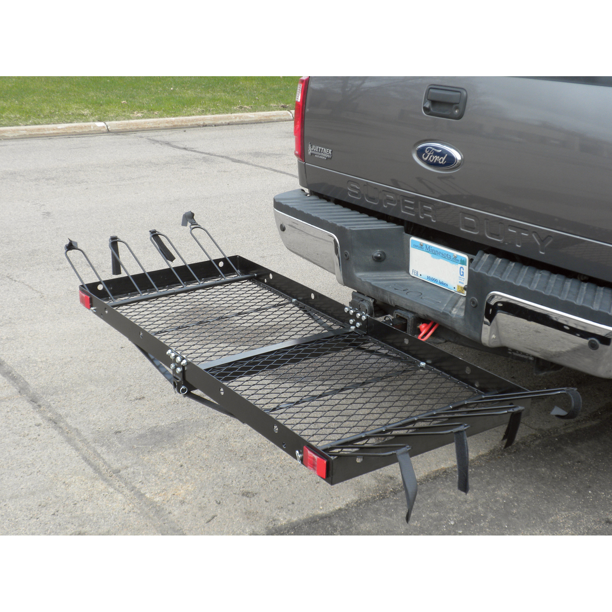 ultra tow 2 in 1 steel cargo carrier with 4 bike rack 500 lb
