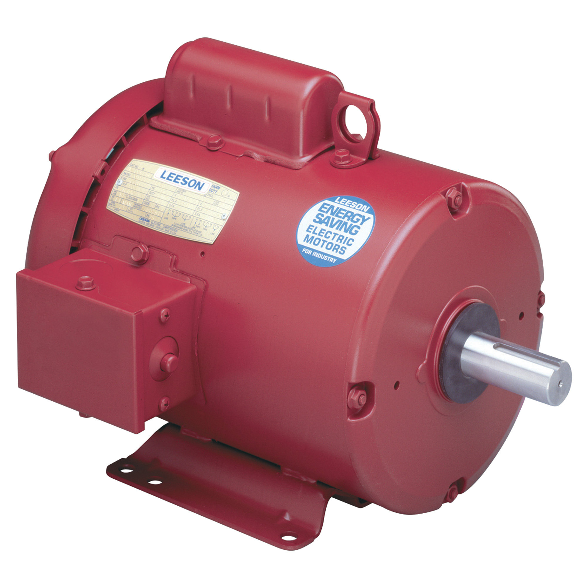 Leeson farm duty electric motor 1 2 hp 1800 rpm model for Half horsepower electric motor