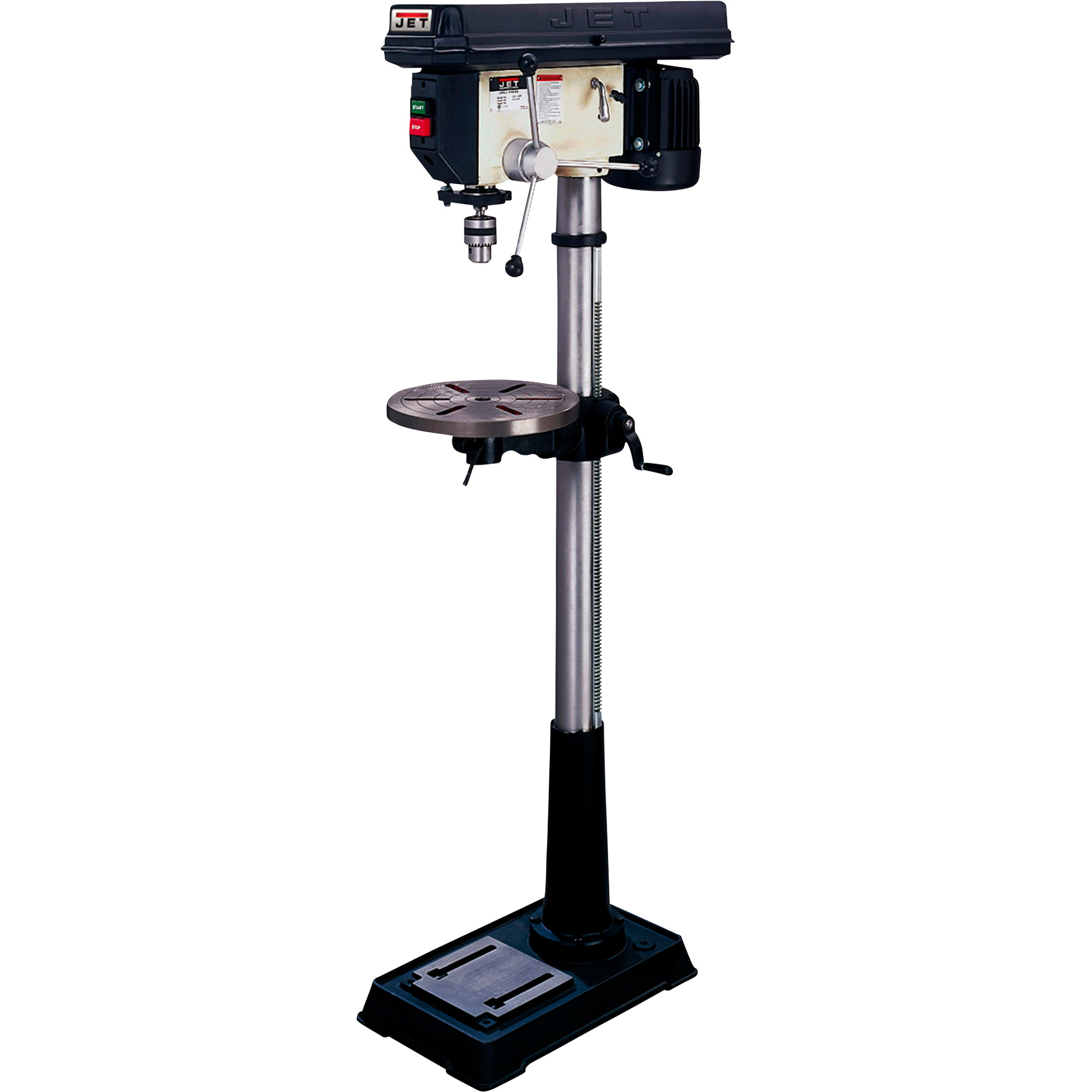 Jet floor drill press 16 speed 5 8in 3 4 hp 115 230v for Chuck s hardwood flooring