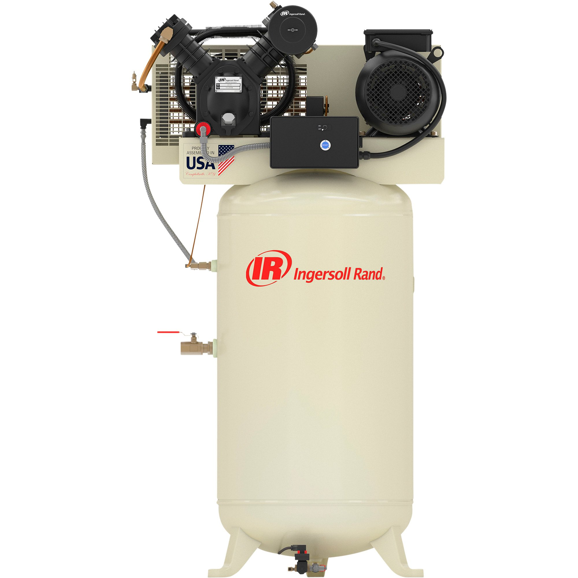 ingersoll rand type 30 reciprocating air compressor (fully packagedingersoll rand type 30 reciprocating air compressor (fully packaged) \u2014 7 5 hp,