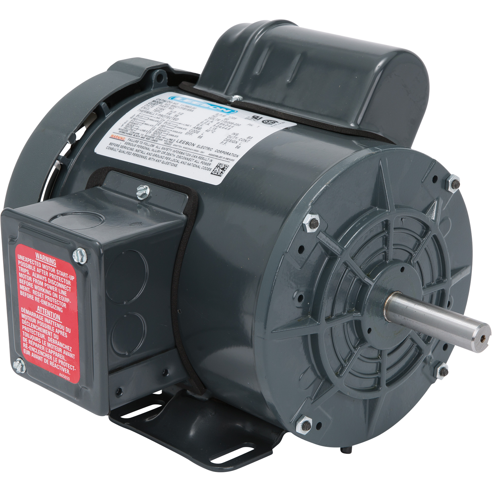 leeson farm duty electric motor 1 hp 1800 rpm 115 208
