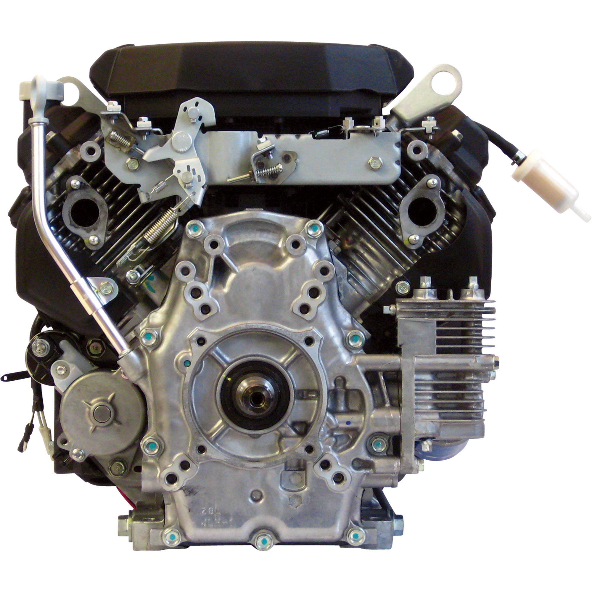 Honda V-Twin Horizontal OHV Engine with Electric Start – 688cc, GX Series,  1in  x 2 29/32in  Shaft, Model# GX630RHQAF