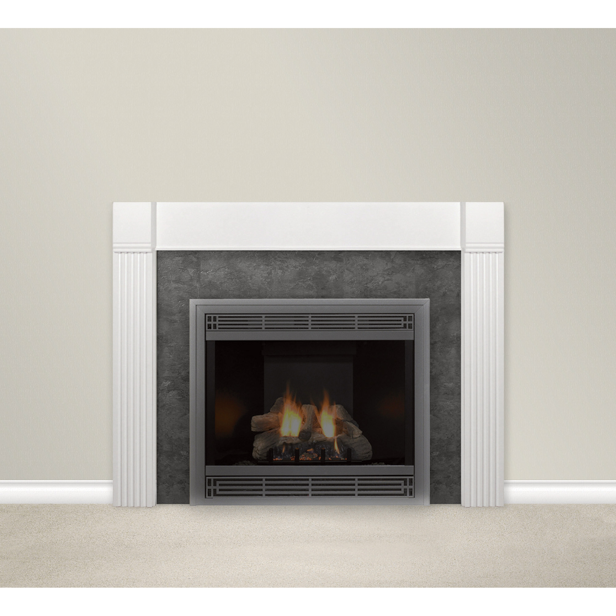 Empire Comfort Systems Flush Mantel Surround — 48in., White, Model ...