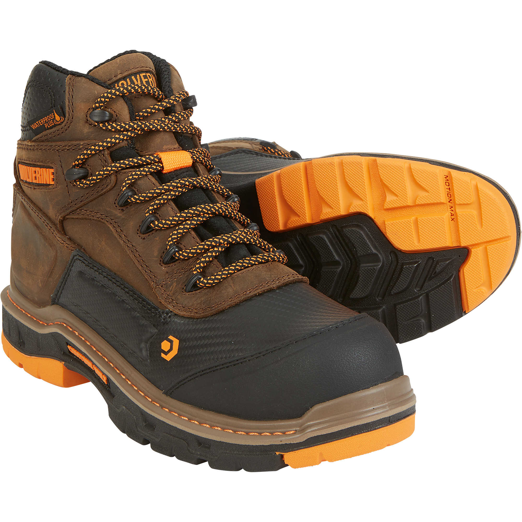 1ad365d1e7e Wolverine Men's Overpass 6in. Waterproof Work Boots, CarbonMAX Safety Toe —  Dark Brown, Size 9, Model# W10717