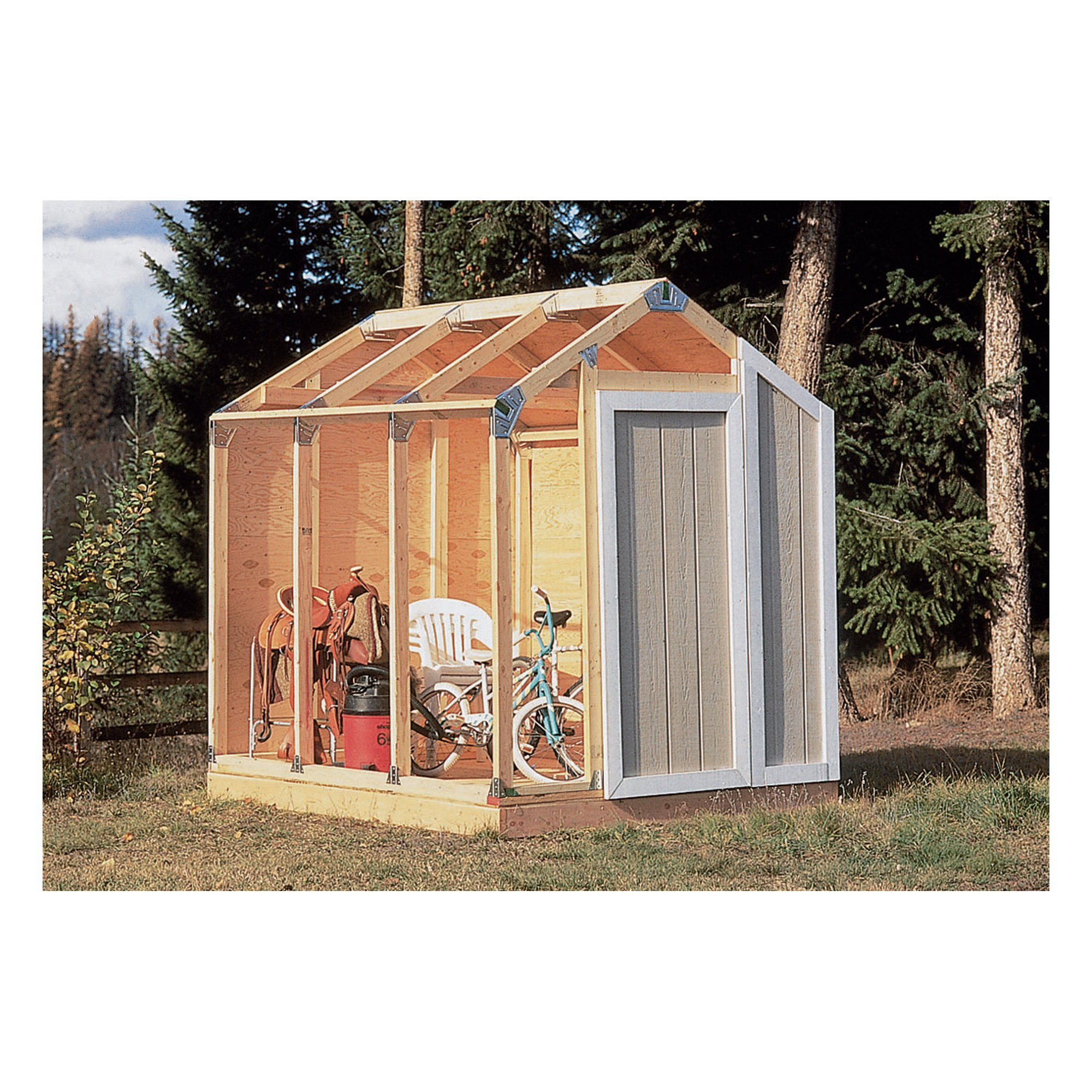 Fast framer universal storage shed framing kit universal for Building a storage shed