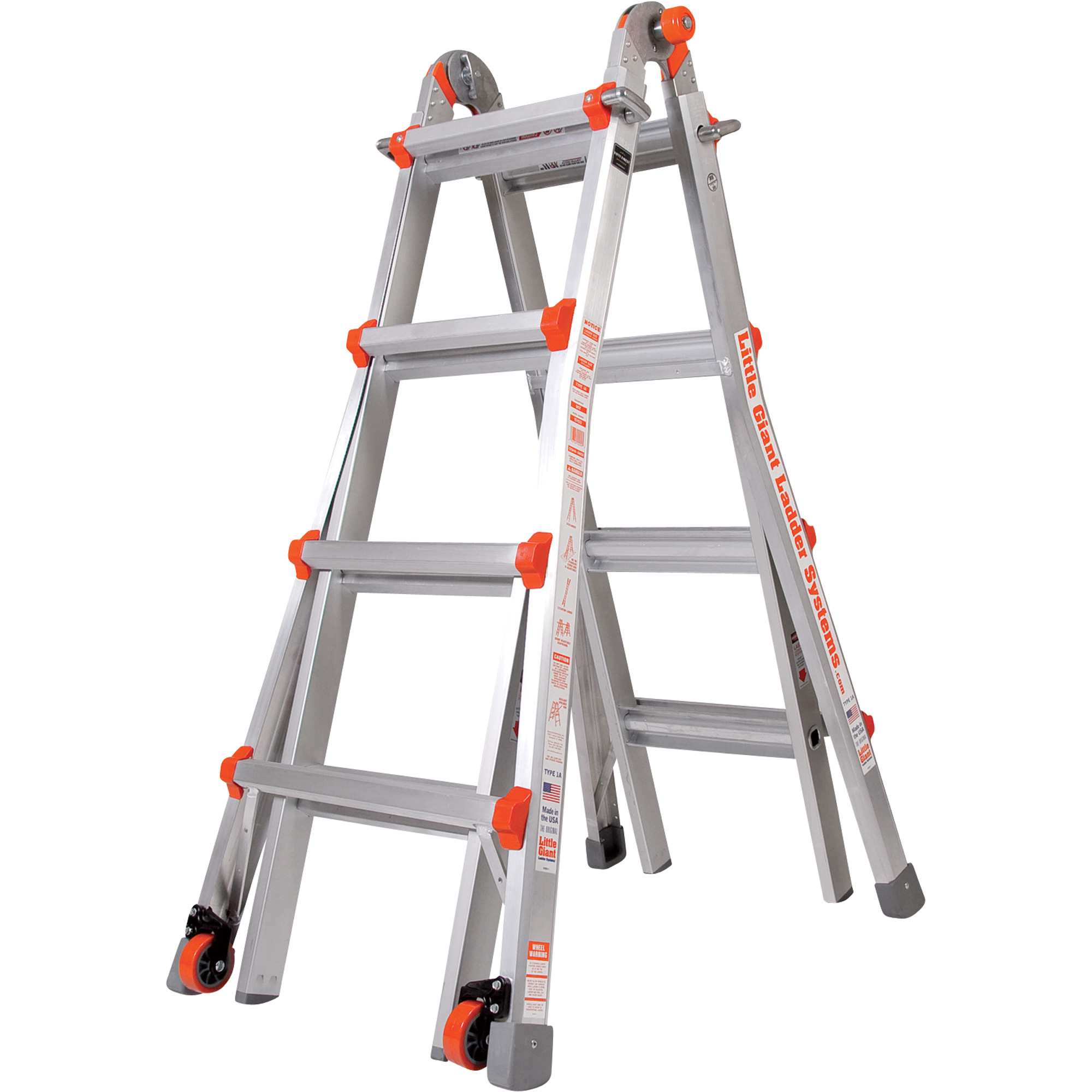 Have the right ladder for the job every time with the Velocity multi-use ladder from Little Giant. This professional-grade ladder system features a convertible design that allows it to be used in up to 24 unique configurations (Model 17).