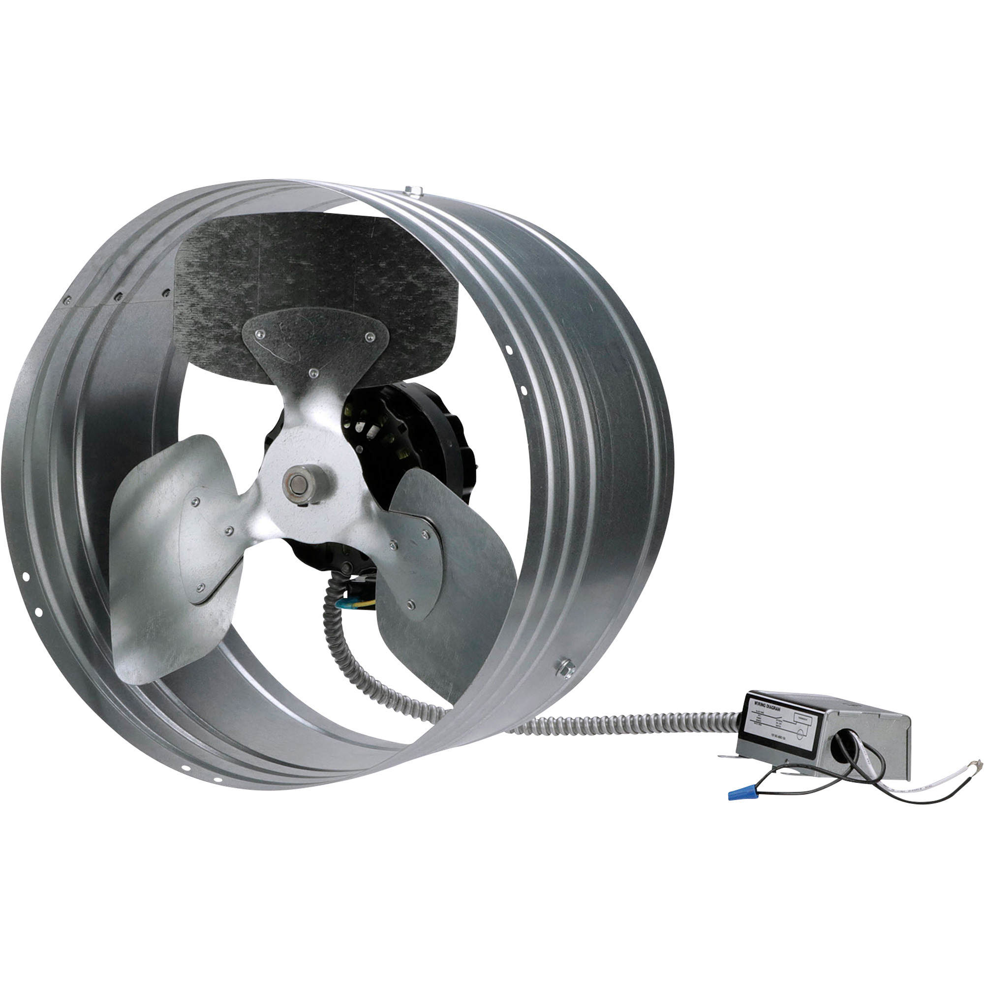 Mountable Exhaust Fan : Tpi gable mount exhaust fan — cfm model gv b