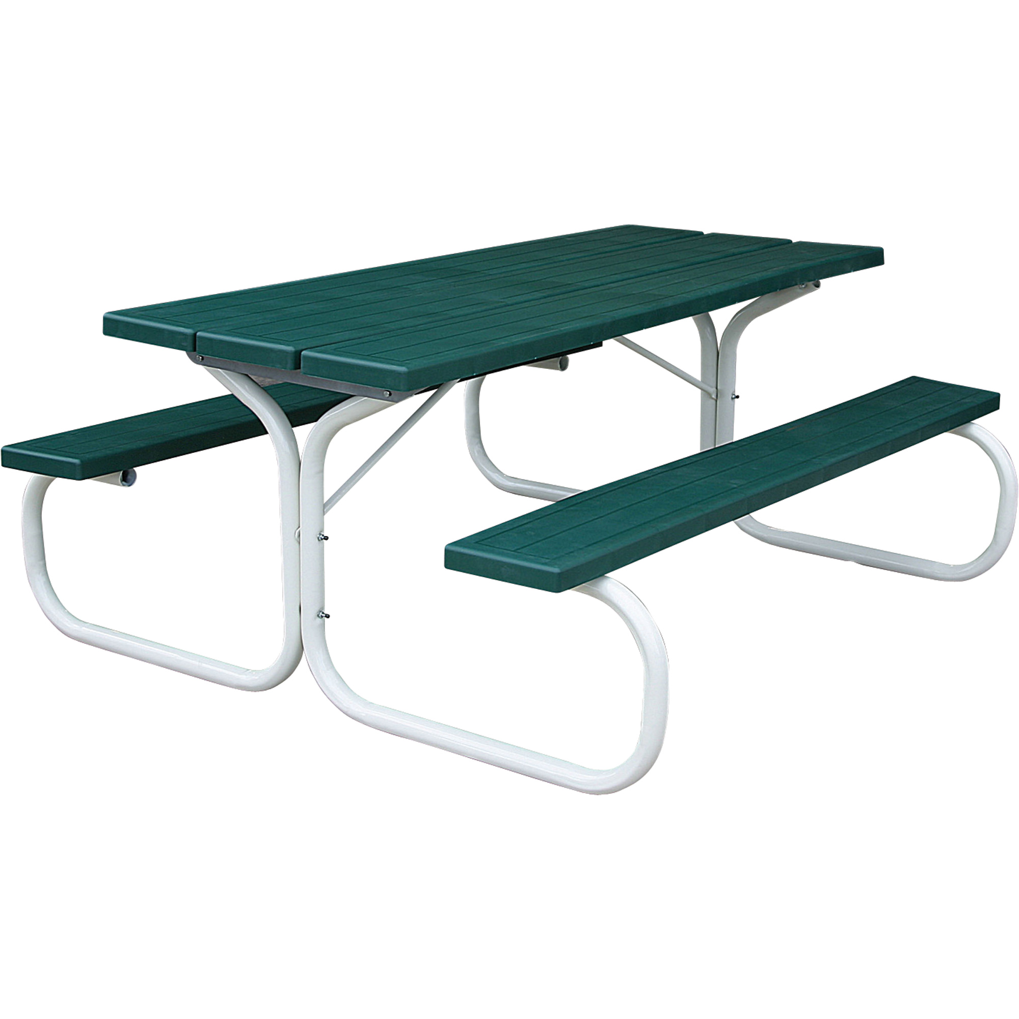 Leisure Time Injection Molded Picnic Table 72in Hunter