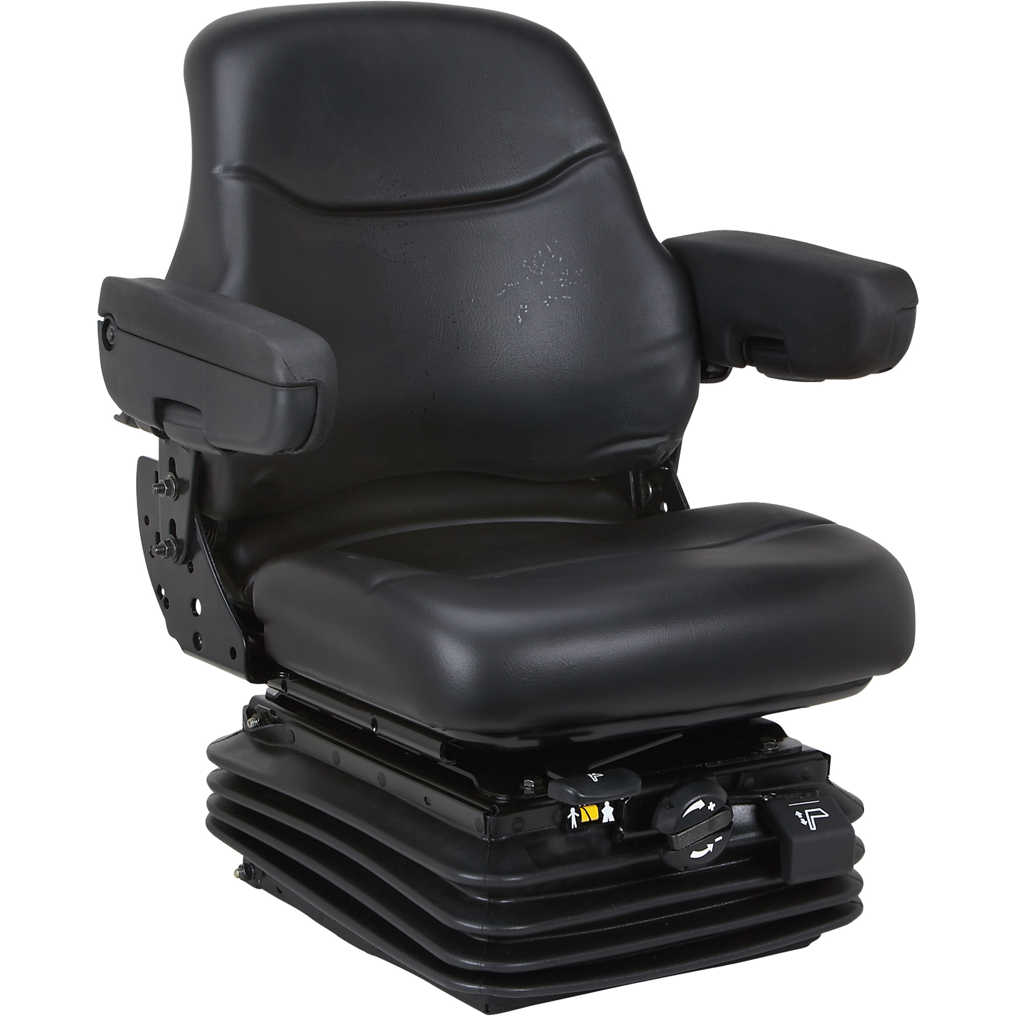 K And M Tractor Seats : K m uni pro suspension seat with arm rests black
