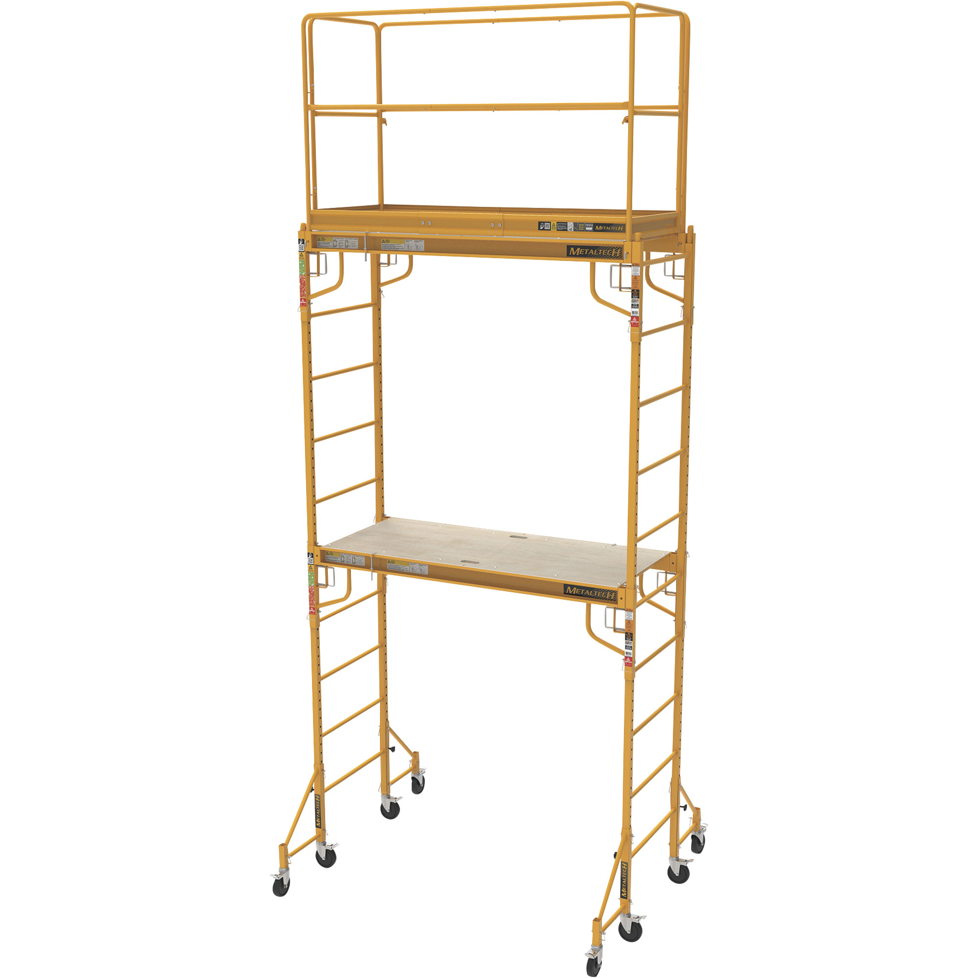 Metaltech Multipurpose Maxi Square Baker-Style Scaffold Tower Package u2014 12ft., 820-Lb. Capacity ...