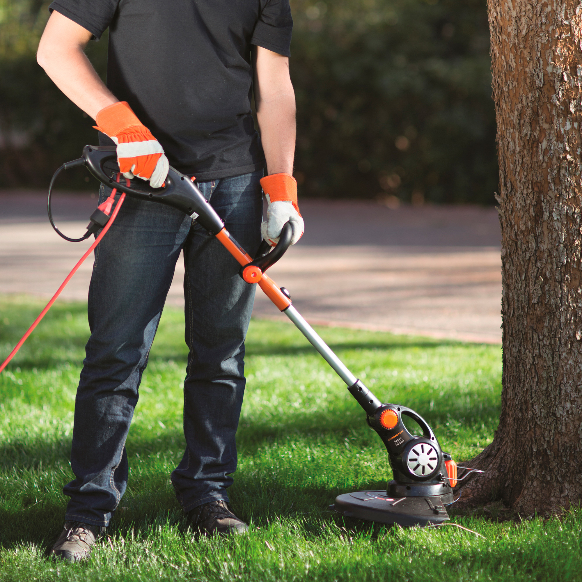 Straight shaft string trimmer attachment