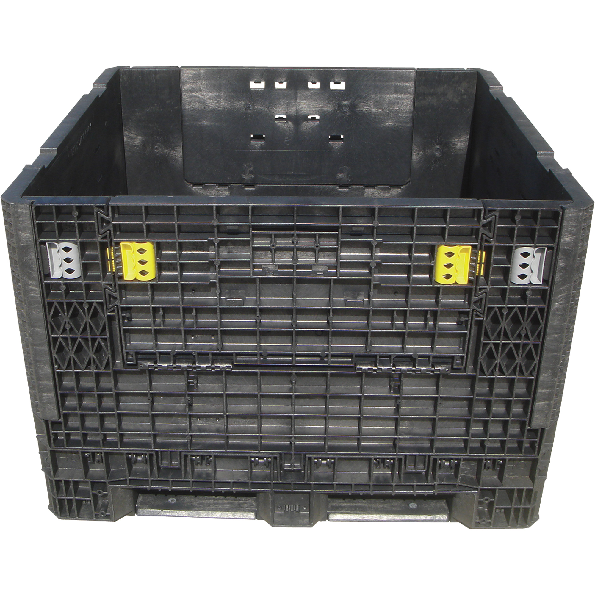 Triple Diamond Plastics Heavy Duty Collapsible Bulk Storage Container U2014  48in.L X 45in