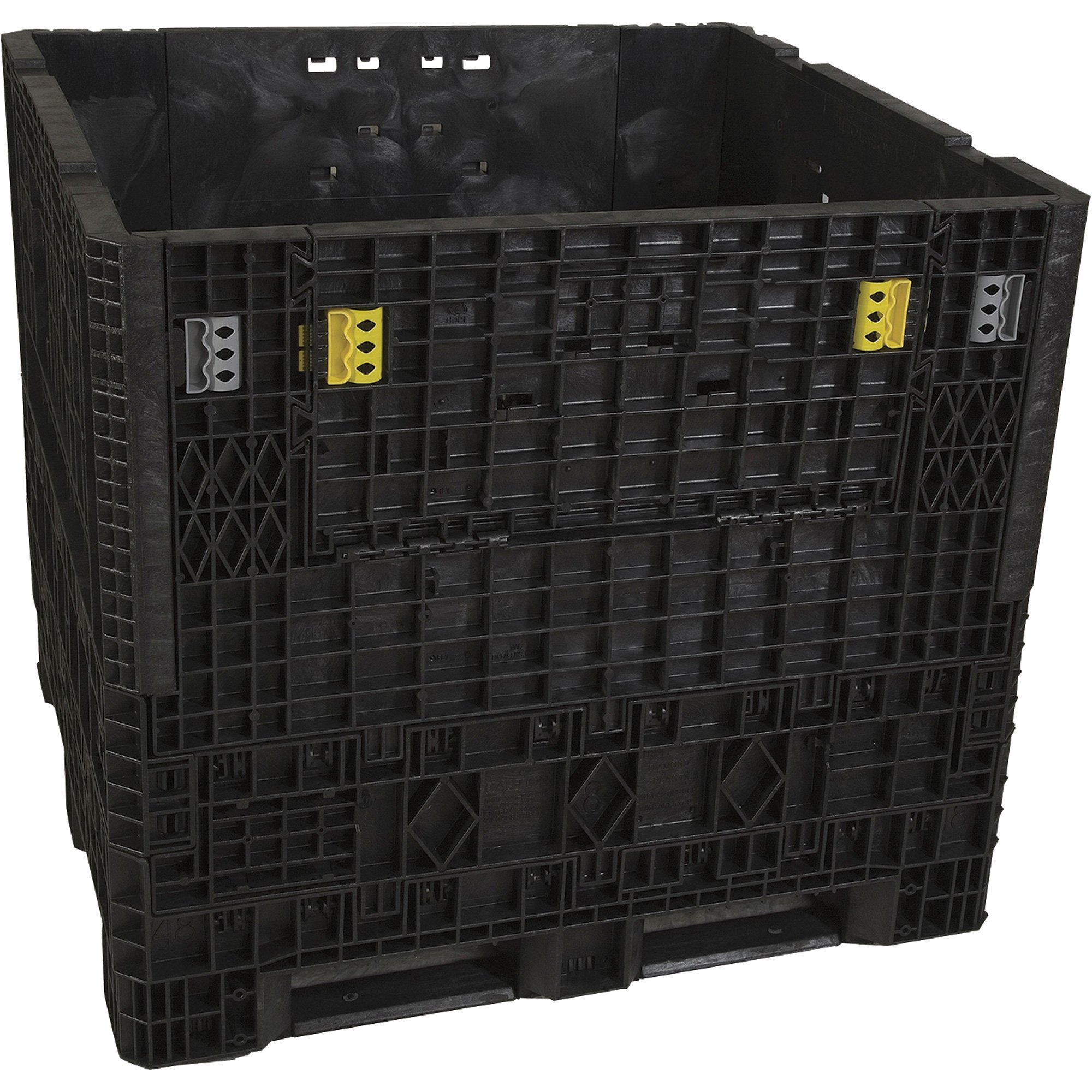 #1 Top Seller Triple Diamond Plastics Heavy Duty Collapsible Bulk Storage  Container U2014 48in.L X 45in