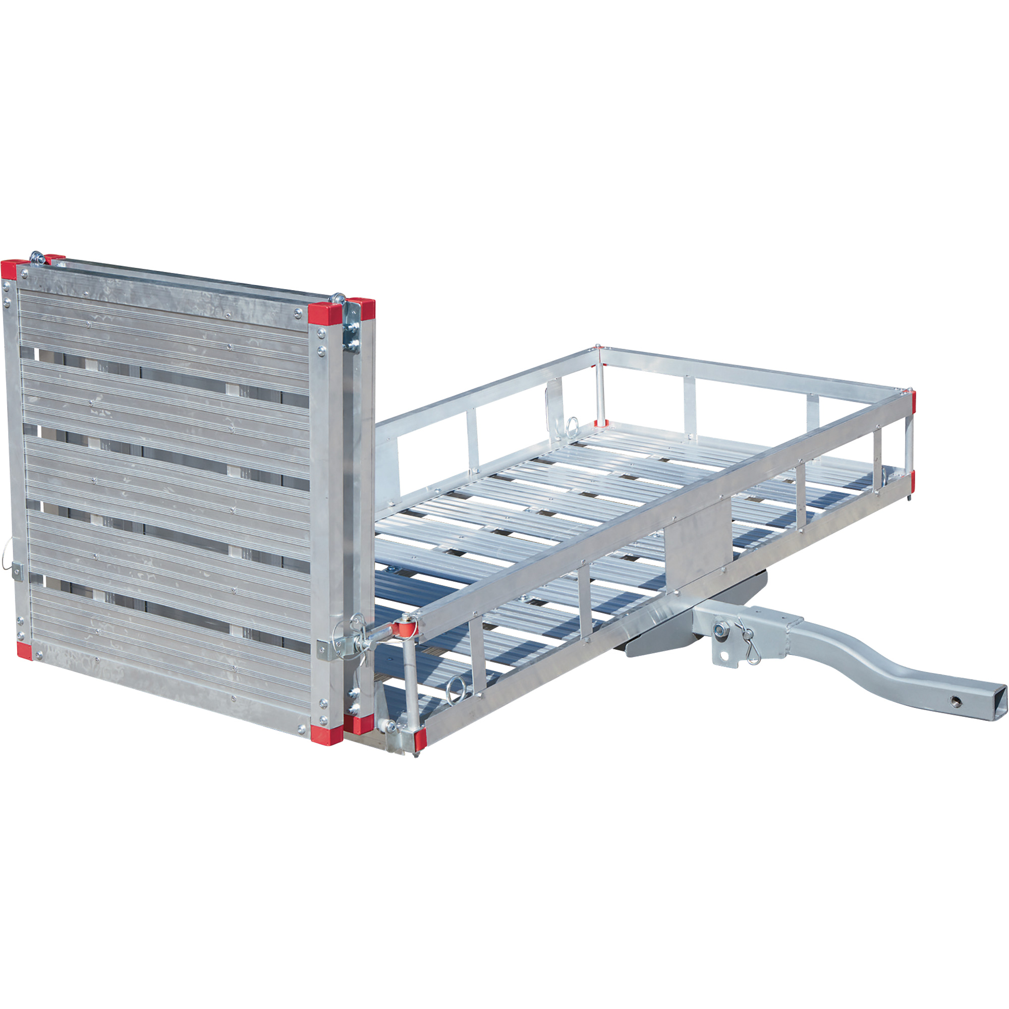 ultratow aluminum folding cargo carrier with ramp u2014 500lb capacity