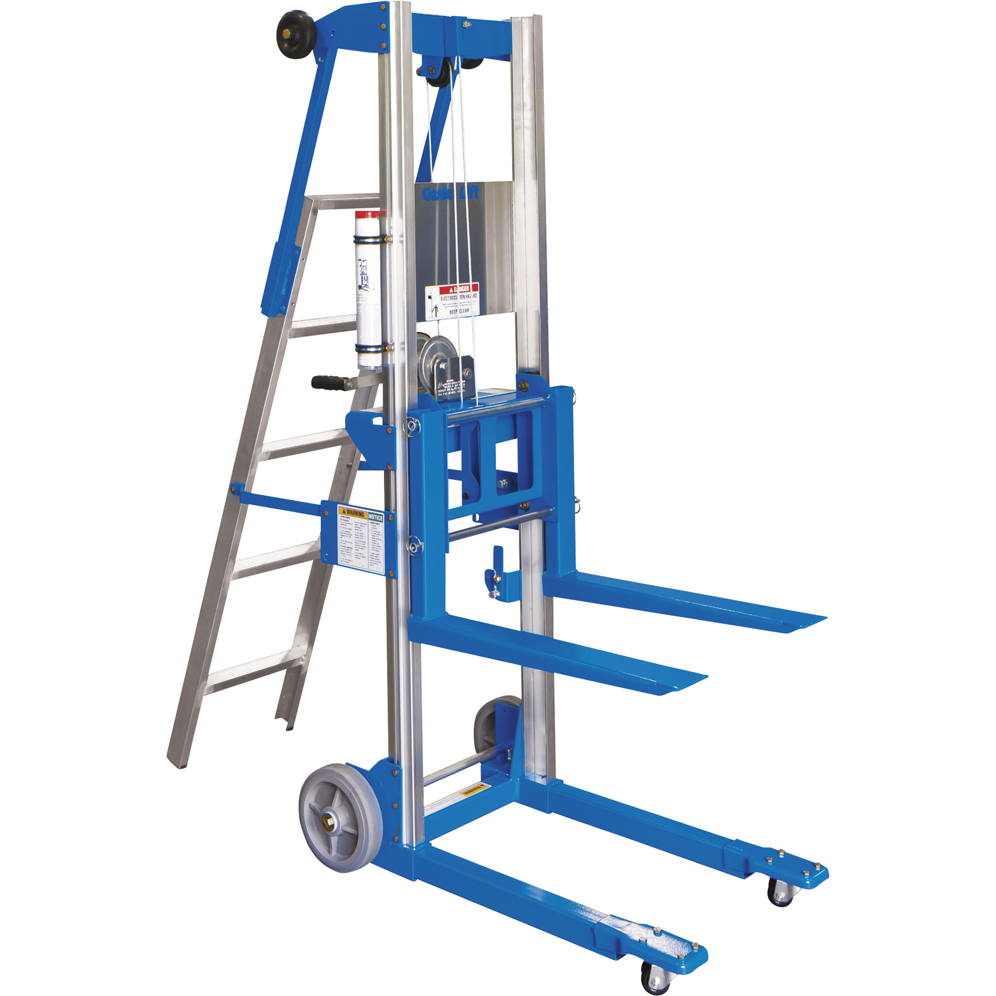 Genie Manual Material Lift With Ladder 8ft Lift 400 Lb