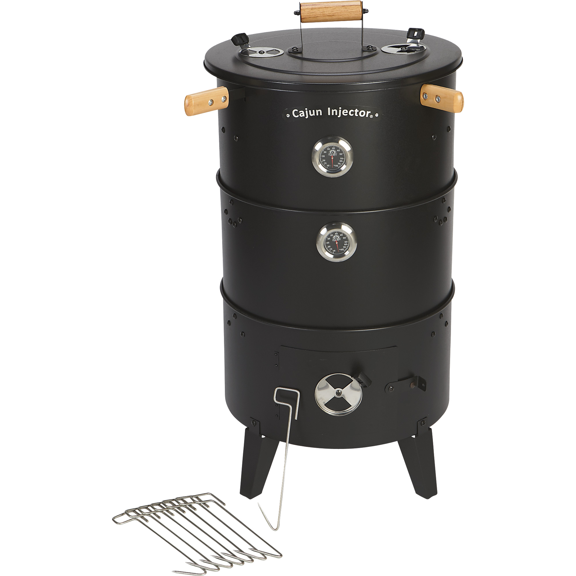 cajun injector charcoal chicken cooker smoker grill multi level 25in l x 21in w x 37in h. Black Bedroom Furniture Sets. Home Design Ideas