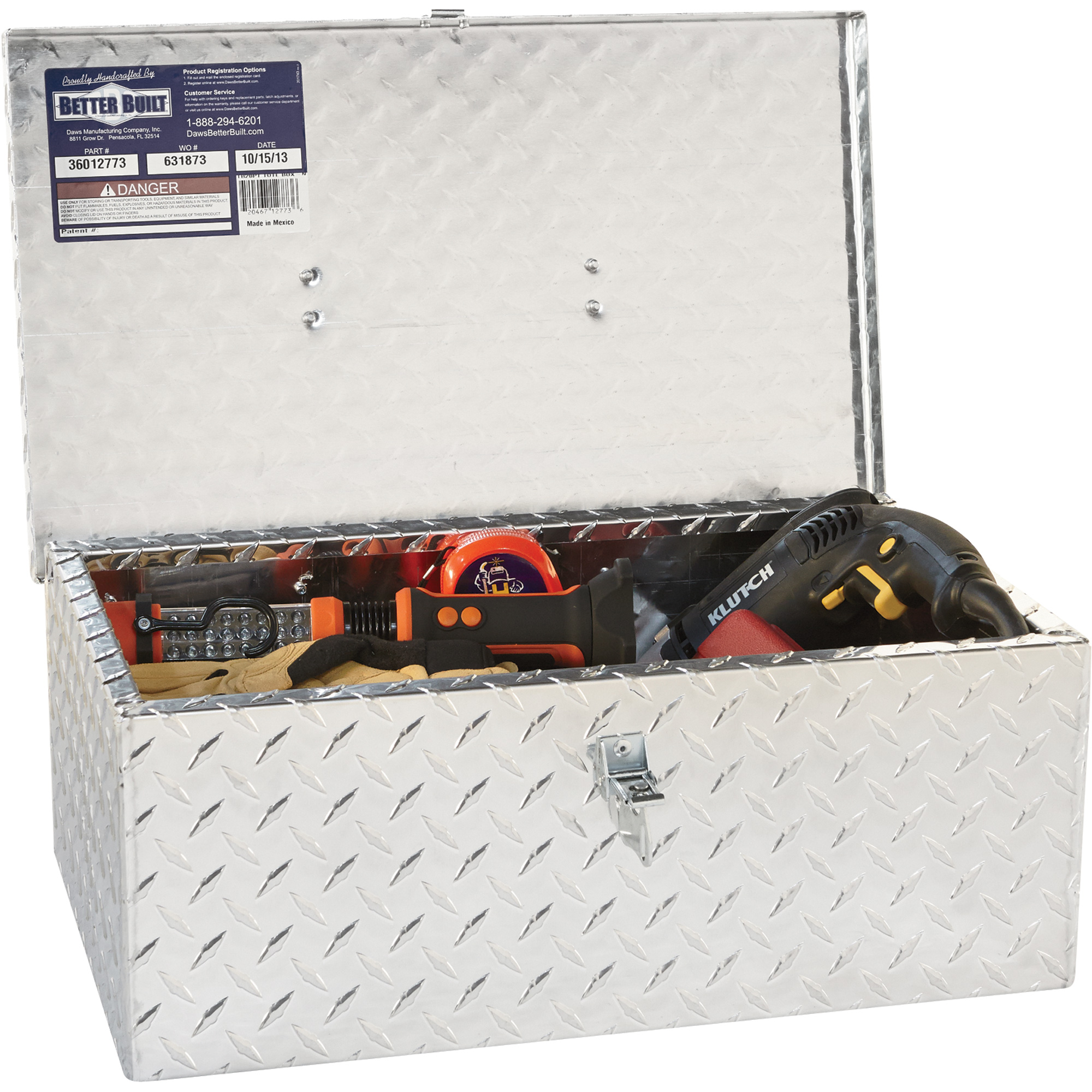 Northern Tool Tote Tool Box With Handle Aluminum