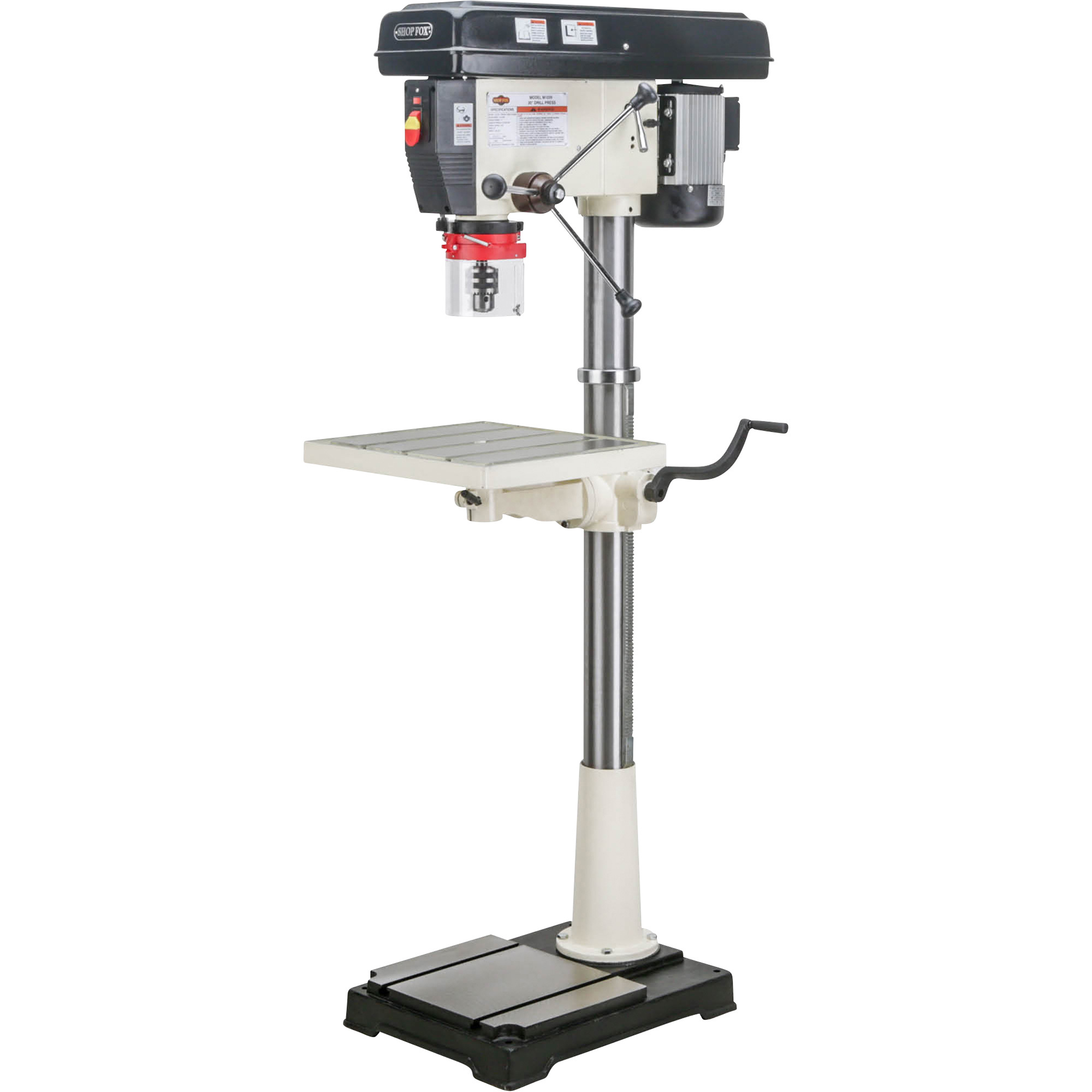 Free shipping shop fox floor drill press 20in 1 1 2 for Chuck s hardwood flooring