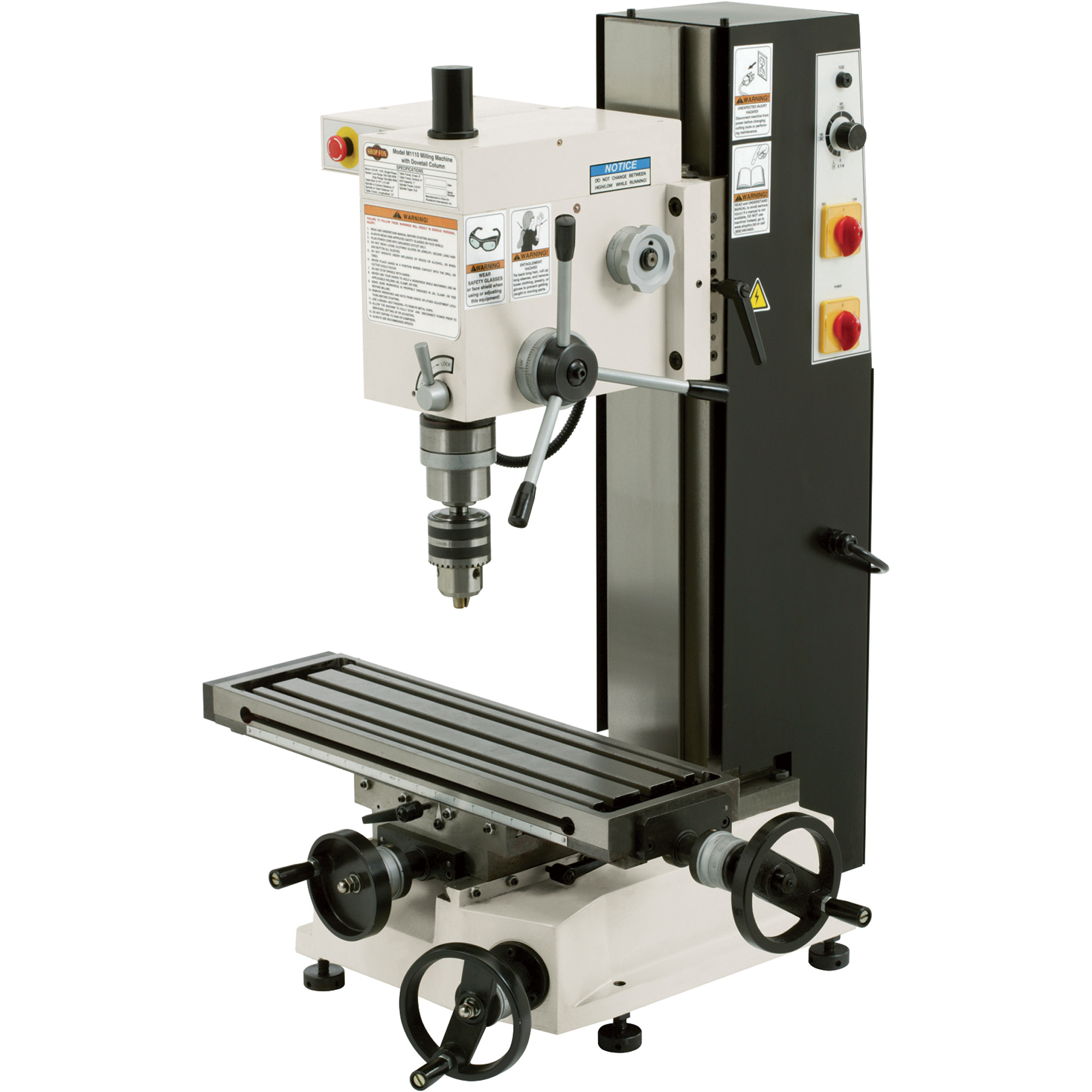 Free Shipping Shop Fox Variable Speed Mill Drill 6in