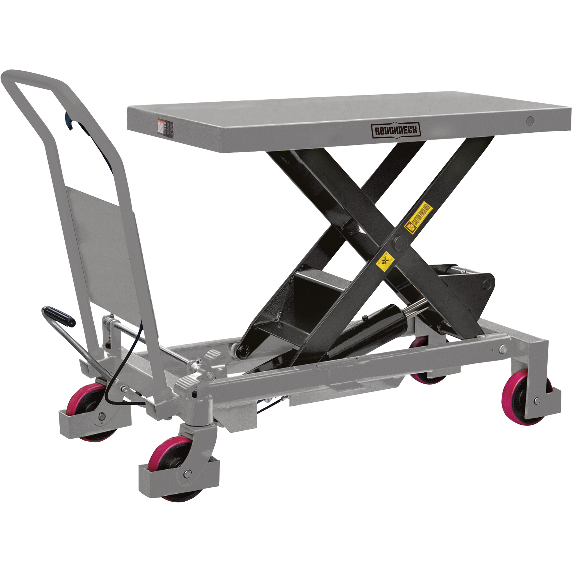Roughneck Hydraulic Lift Table Cart 2 200 Lb Capacity