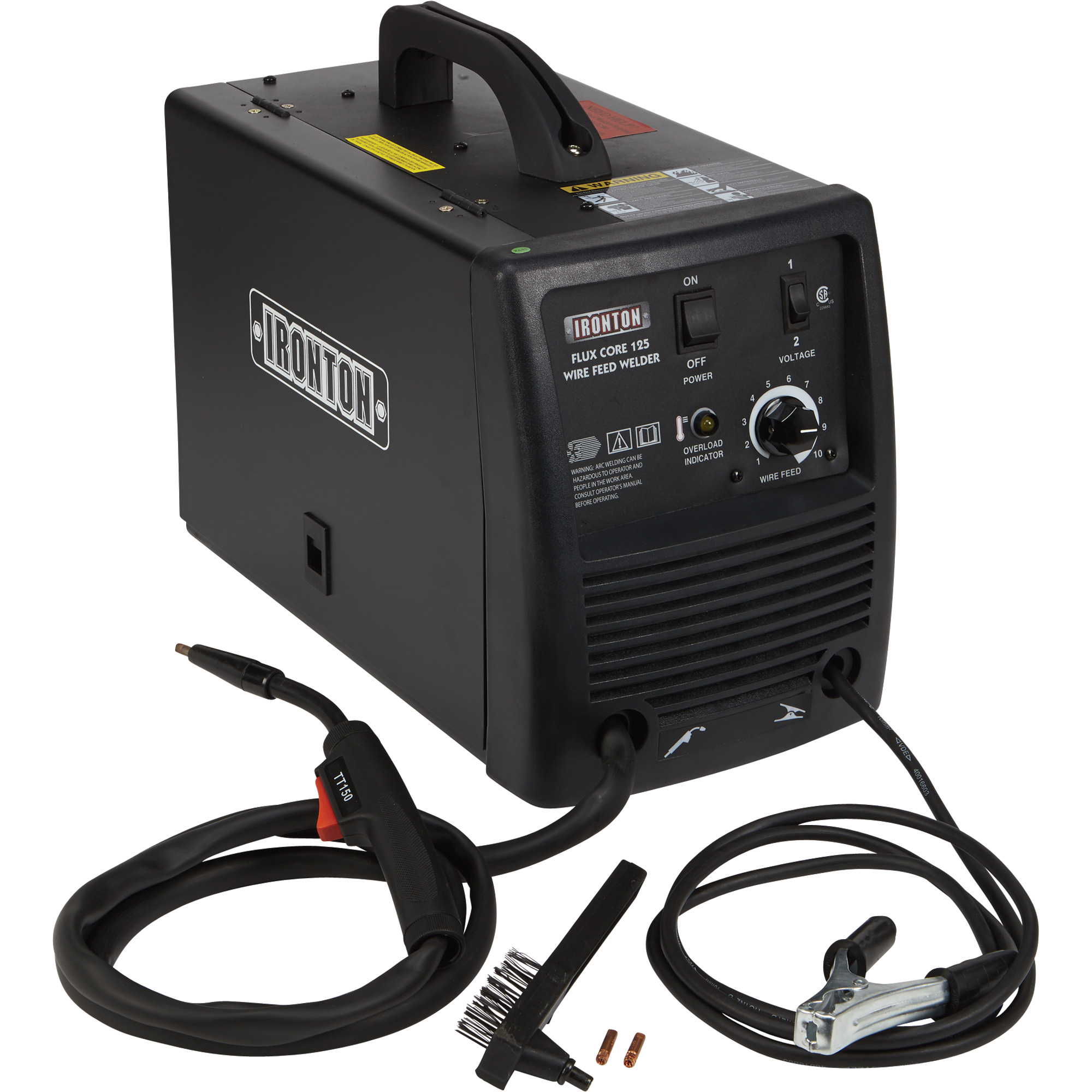 45433_2000x2000 ironton 125 flux core welder 115 volts, 125 amp mig flux core  at crackthecode.co
