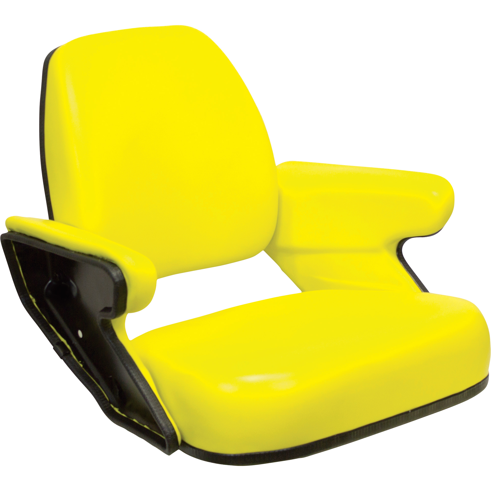 K And M Tractor Seats : K m open station tractor seat — yellow for john deere
