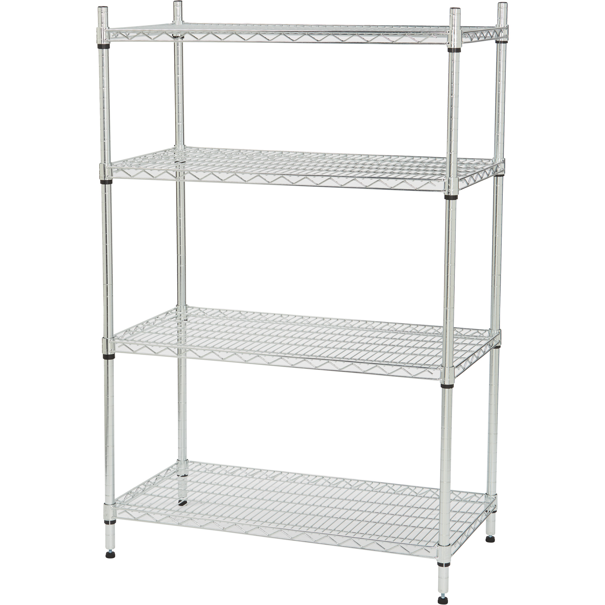 Strongway Heavy-Duty Wire Shelving System — 4 Shelves, 800-Lb ...