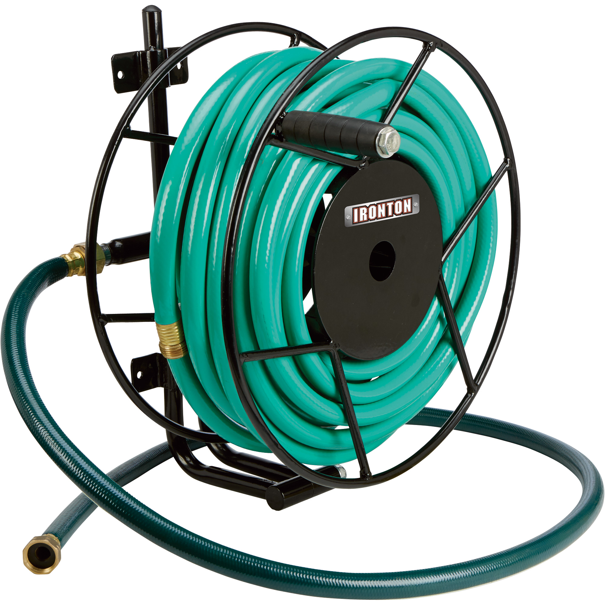 Ironton Wall Mount Garden Hose Reel Holds 100ft x 58in Hose