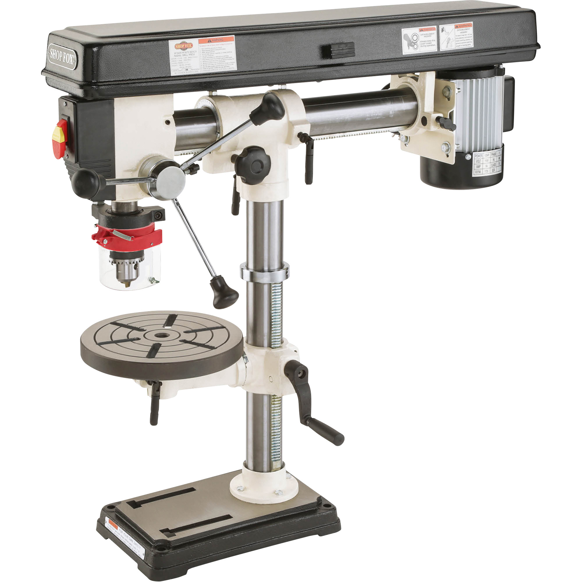 Shop Fox Radial Benchtop Drill Press 5 Speed 34in 1 2