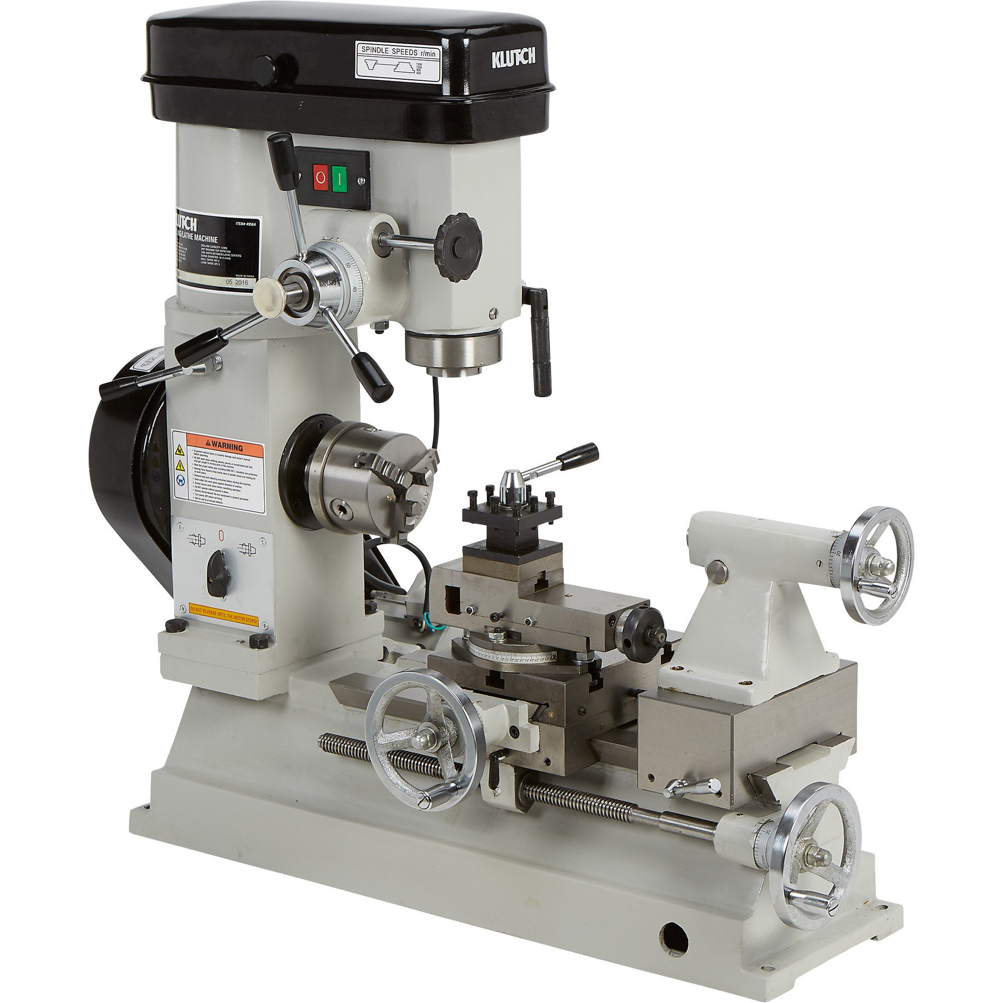 Klutch Metal Lathe Milling And Drilling Machine 1 2 Hp 110v Motor