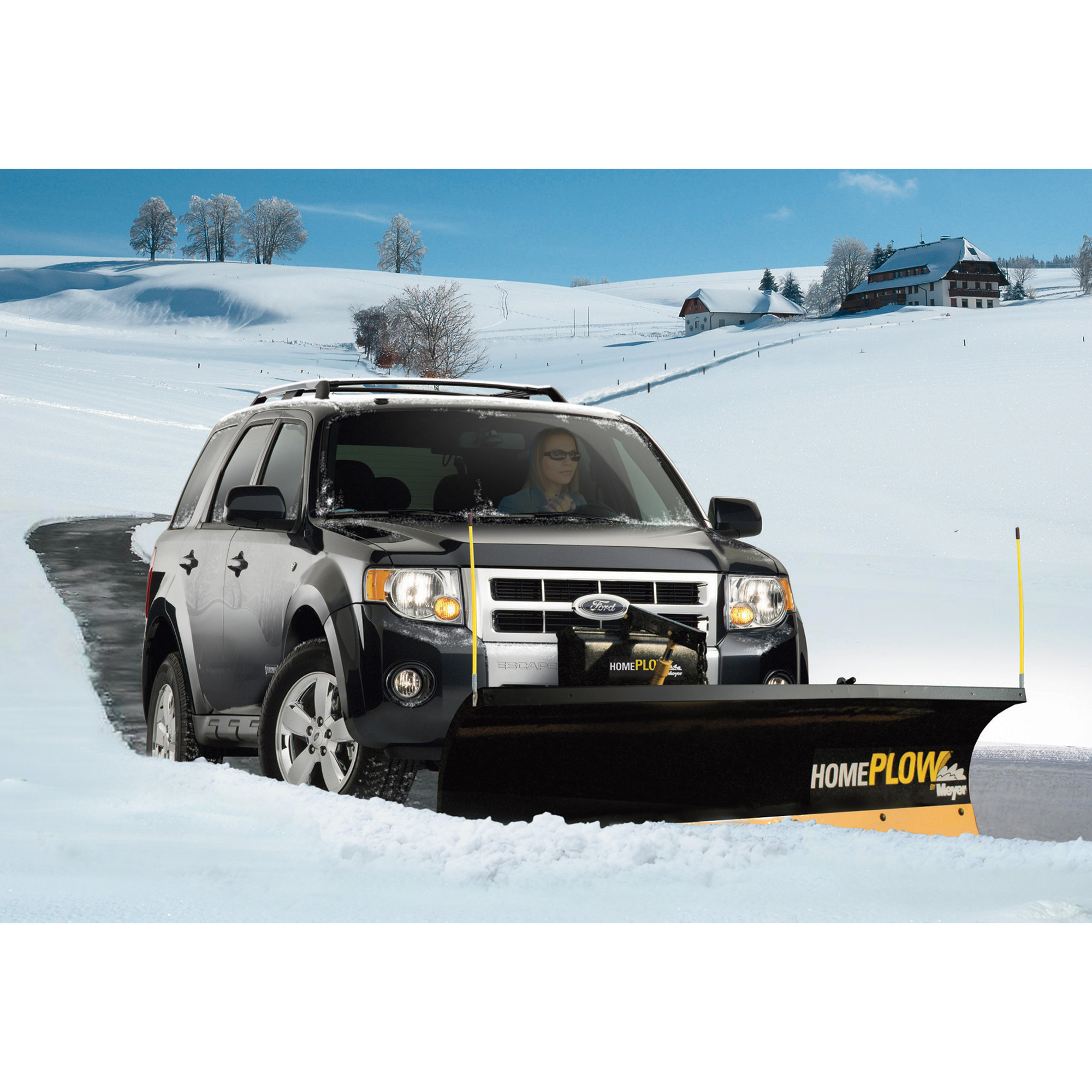 home plow by meyer auto angling 25000 ebay. Black Bedroom Furniture Sets. Home Design Ideas