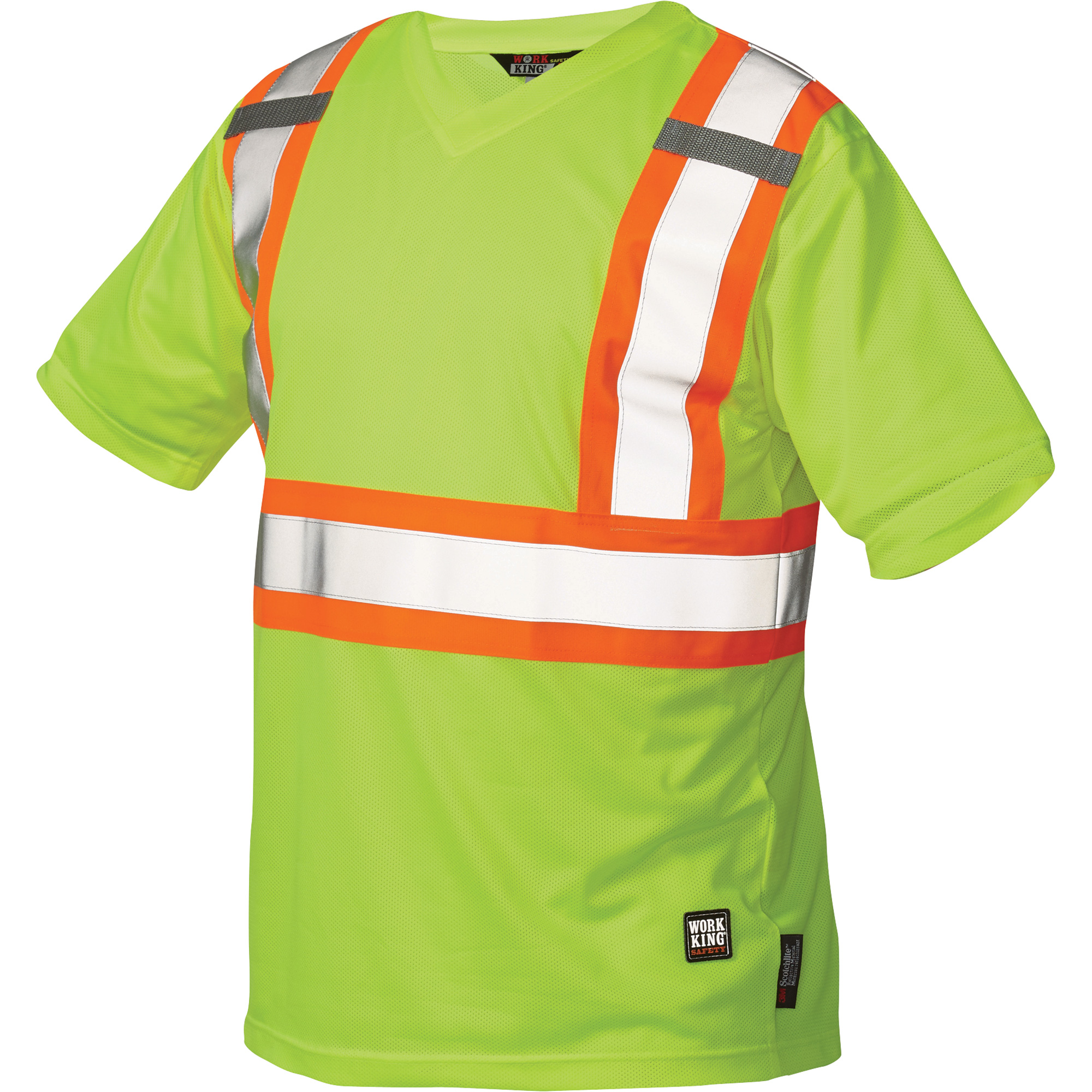 Work King Men 39 S Class 2 High Visibility Micro Mesh Safety