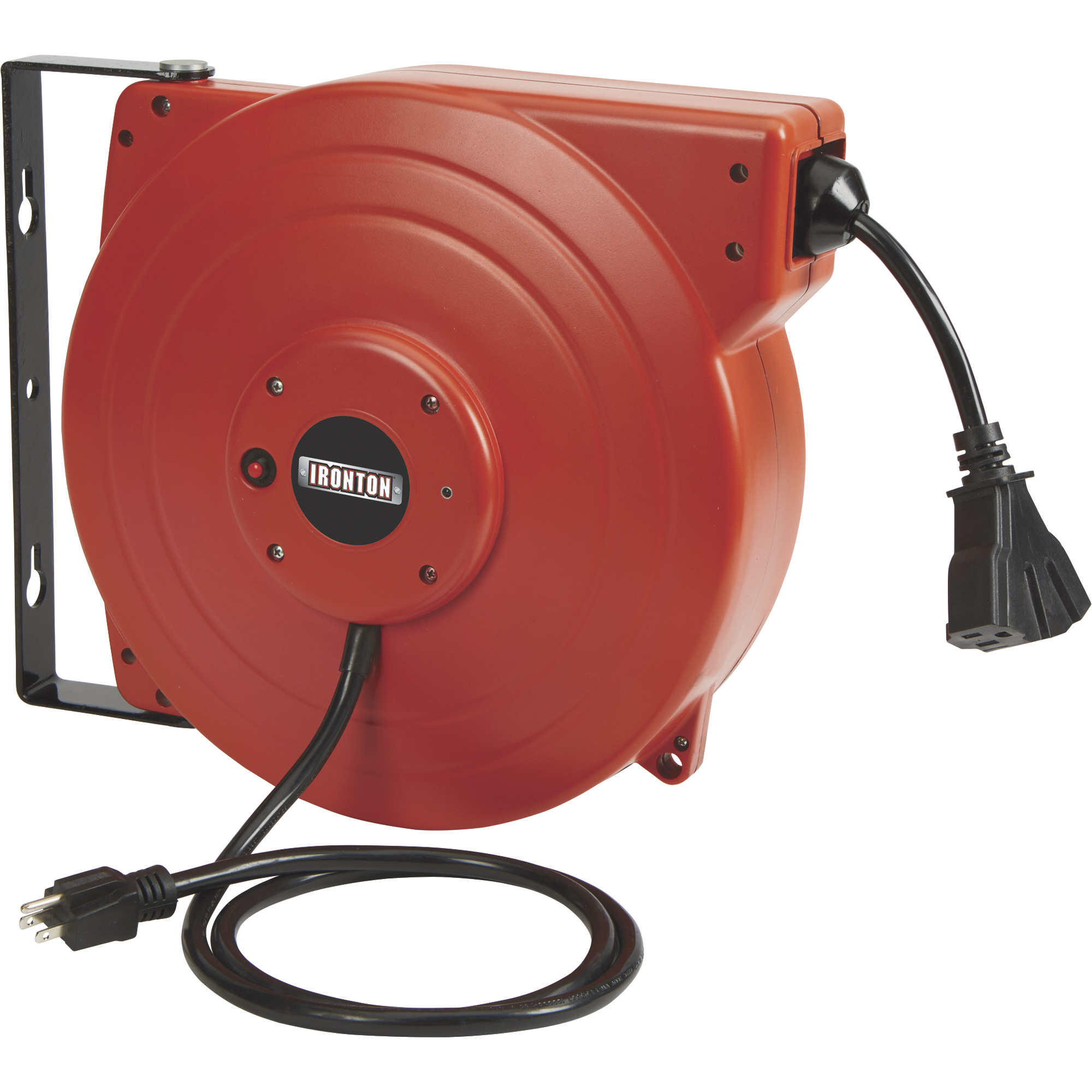 Ft Cord W Circuit Breaker 16 Gauge Power All Extension Cords Are The Electric Reels Retractable Northern Tool Equipment Advantage Exclusive Ironton Reel With Triple Tap 65ft 12 3 Sjt
