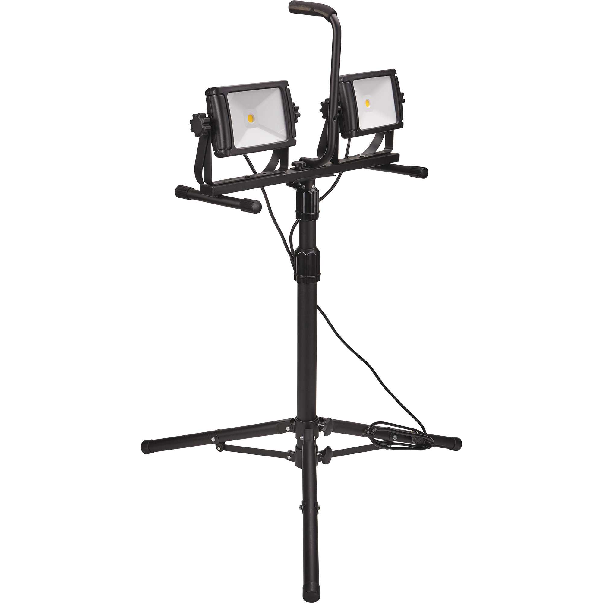 Stonepoint Led Dual Head Portable Work Light With Adjule Tripod And Removable 8000 Lumens